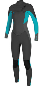 2018 O'Neill Womens O'Riginal 5/4mm Chest Zip Wetsuit BLACK / Breeze 4997