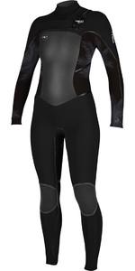O'Neill Womens Psycho Tech 4/3mm Chest Zip Wetsuit BLACK / Mist 5029