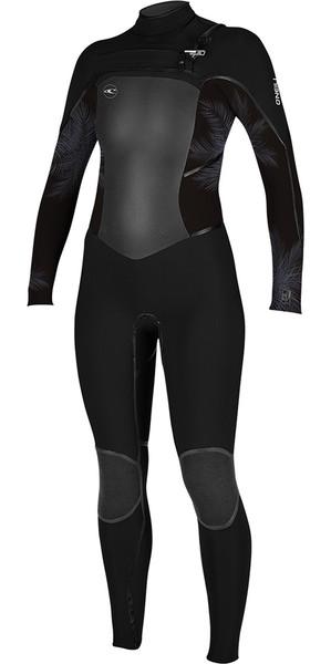 2018 O'Neill Womens Psycho Tech 4/3mm Chest Zip Wetsuit BLACK / Mist 5029