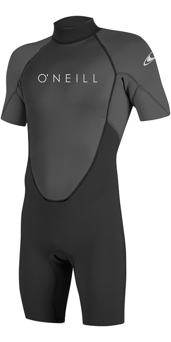 2020 O'Neill Reactor II 2mm Back Zip Shorty Wetsuit BLACK / Graphite 5041