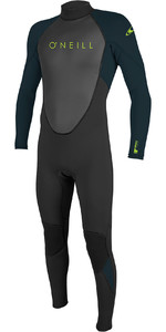 2020 O'Neill Youth Reactor II 3/2mm Back Zip Wetsuit Black / Slate 5044
