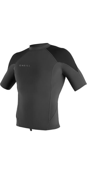 2020 O'Neill Mens Reactor II 1mm Neoprene Short Sleeve Top Graphite / Black / Cool Grey 5081