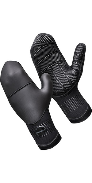 2018 O'Neill Psycho 5mm Double Lined Neoprene Mittens Black 5106