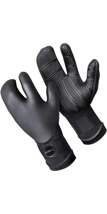 O'Neill Psycho 5mm Double Lined Neoprene Lobster Gloves Black 5108