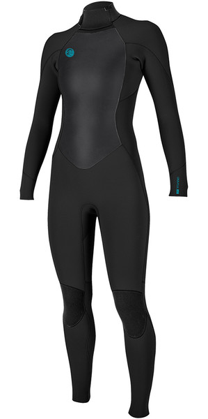 2018 O'Neill Womens O'Riginal 4/3mm Back Zip Wetsuit BLACK 5117