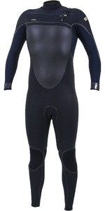 2019 O'Neill Psycho Tech 4/3mm Chest Zip Wetsuit Black / Abyss 5337