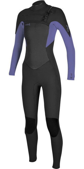 2020 O'Neill Womens Epic 3/2mm Chest Zip GBS Wetsuit 5355 - Black / Mist