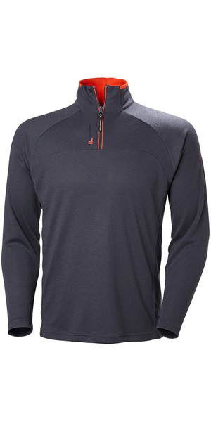 2019 Helly Hansen 1/2 Zip Technical Pullover Graphite Blue 54213
