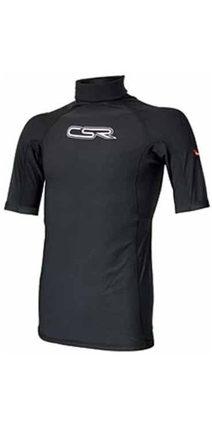 CSR Plamo Polypro Short Sleeve Thermal Rash Vest BLACK 5790