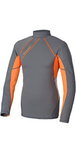 Crewsaver Junior Phase 2 Long Sleeve Rash Vest Grey / Orange 6910