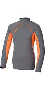 Crewsaver Junior Phase 2 Long Sleeve Rash Vest Grey / Orange 6910