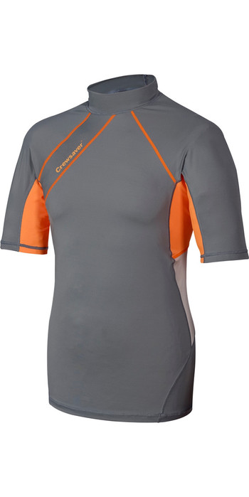 Crewsaver Phase 2 SHORT Sleeve Rash Vest Grey / Orange 6911