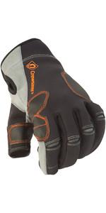 Crewsaver Phase 2 3 Finger Glove Black Grey 6927