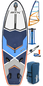 2019 STX Inflatable Windsurf 280 Stand Up Paddle Board & HD2 5.5M Rig Package Blue / Orange 70635