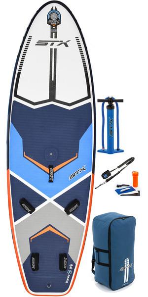 2019 STX Inflatable Windsurf 280 Stand Up Paddle Board, Bag, Pump & Leash 280x85x6 Blue / Orange 70635