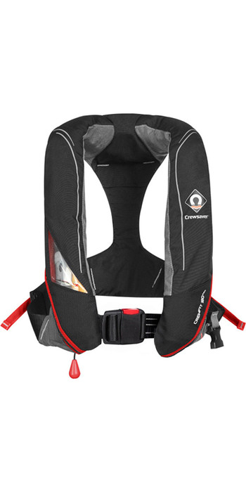 2021 Crewsaver Crewfit 180N Pro Automatic Lifejacket Black / Red 9020BRA
