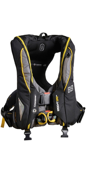 2019 Crewsaver ErgoFit 290N Extreme Lifejacket Hammar Harness Light Hood 9145-BKHP