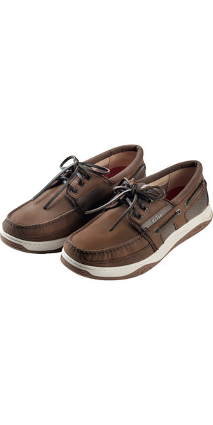 2018 Gill Newport 3 Eyelet Deck Shoe Dark Brown Nubuck 925