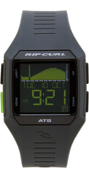 2018 Rip Curl Rifles Mid Tide Surf Watch Black / Green A1124