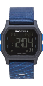 2019 Rip Curl Mens Atom Webbing Strap Digital Watch Navy A3087