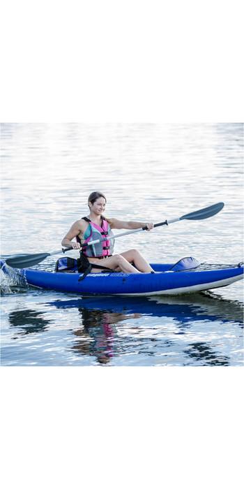 2019 Aquaglide Chelan HB ONE 1 Man High Pressure Inflatable Kayak Blue - Kayak Only AGCHE1
