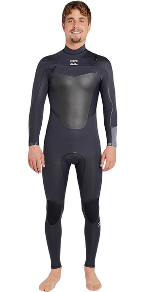 2018 Billabong Absolute X 3/2mm Chest Zip Steamer Wetsuit ASPHALT F43M20