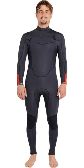 2018 Billabong Absolute Comp 3/2mm Chest Zip Wetsuit Asphalt F43m21 Picture