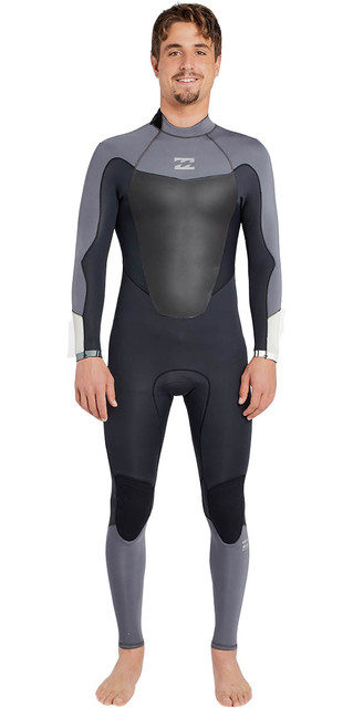 2018 Billabong Absolute Comp 4/3mm Back Zip Wetsuit Asphalt F44m22 Picture