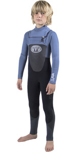Animal Junior Boys Lava 5/4/3mm GBS Chest Zip Wetsuit Pewter Blue AW8WN604