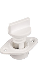 Allen Brothers Drain Socket With Captive Screw Bung A323 - White