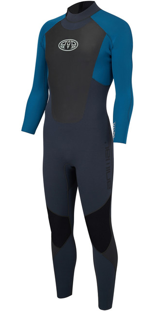 2018 Animal Lava 3/2mm Gbs Back Zip Wetsuit Marina Blue Aw8sn101 Picture