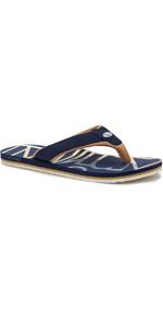 2020 Animal Mens Bazil Logo Flip Flop Sandals FM0SS002 - Indigo Blue
