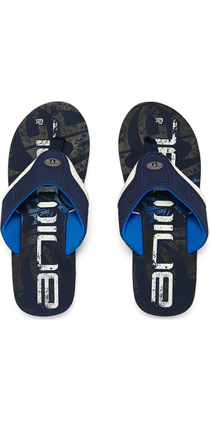 2018 Animal Jekyl Logo Junior Boys Flip Flops Snorkel Blue FM8SN600