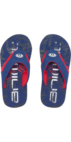 82fb9a646f39 2019 Animal Junior Boys Jekyl logo Flip Flops Seaport Blue FM9SQ600 Animal