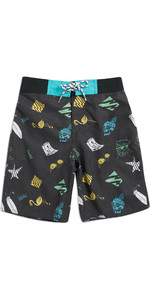 2019 Animal Junior Boys Lino Boardshorts Black CL9SQ604