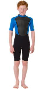2020 Animal Junior Boys Nova 3/2mm Back Zip Shorty Wetsuit AW0SS603 - Black