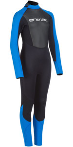 2020 Animal Junior Boys Nova 3/2mm Back Zip Wetsuit AW0SS602 - Black