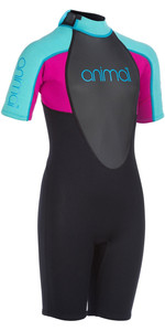 2020 Animal Junior Girls Nova 3/2mm Back Zip Shorty Wetsuit AW0SS801 - Black
