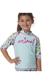 2020 Animal Junior Girls Paddle Rash Suit Set CL0SS814 - Misty Green