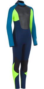 2020 Animal Junior Lava 5/4/3mm Back Zip Wetsuit AW0SS601 - Dark Navy