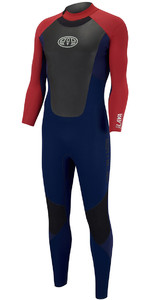 2018 Animal Lava 4/3mm GBS Back Zip Wetsuit Dark Navy AW8SN104