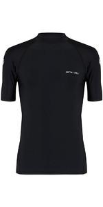 Animal Loet Short Sleeve Rash Vest Black CL8SN020