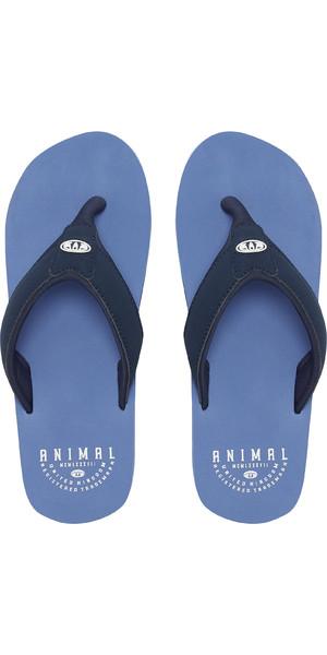 81907ac44b05 2019 Animal Mens Bazil Flip Flops Lethal Blue FM9SQ005 Animal