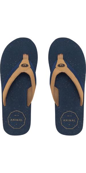 92f87598a 2019 Animal Mens Huxley Flip Flops Dark Navy FM9SQ012 Animal