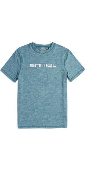 2019 Animal Mens Latero Short Sleeve UV Protection Tee Blue Marl CL9SQ019