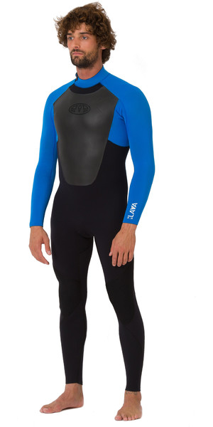 2019 Animal Mens Lava 3/2mm Back Zip GBS Wetsuit Black AW9SQ007