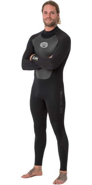 2018 Animal Mens Lava 5/4/3mm Back Zip Gbs Wetsuit Black Aw8wn105 Picture