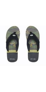 2020 Animal Mens Slyde Slider Sandals FM0SS008 - Black