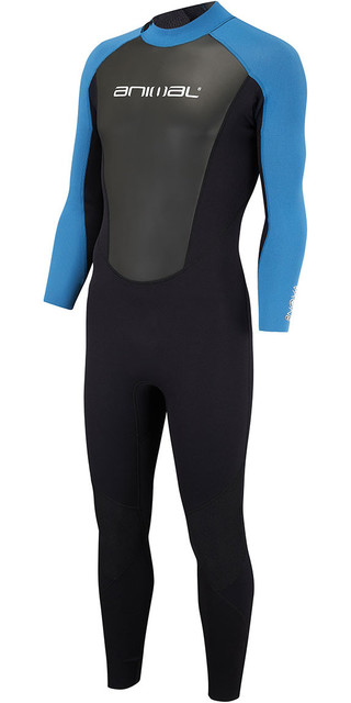 2018 Animal Nova 3/2mm Flatlock Back Zip Wetsuit Marina Blue Aw8sn102 Picture