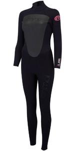 Animal Womens Lava 4/3mm Back Zip GBS Wetsuit Black AW8SN300